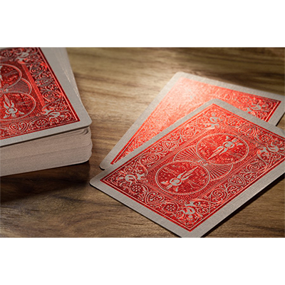 Bicycle Rider Back Crimson Luxe Red - BAM Playing Cards