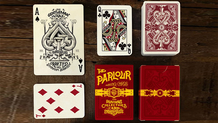 The Parlour Playing Cards (Red) (6467205070997)