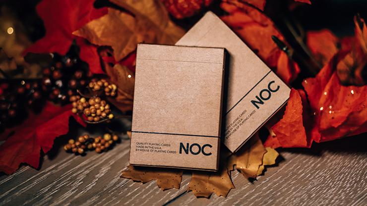 NOC on Wood (Brown) Playing Cards (6750773969045)