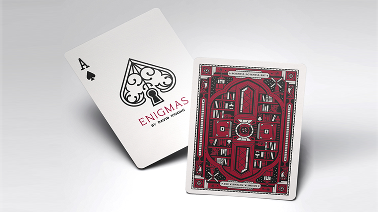 ENIGMAS Puzzle Hunt (RED) Playing Cards (6444826034325)