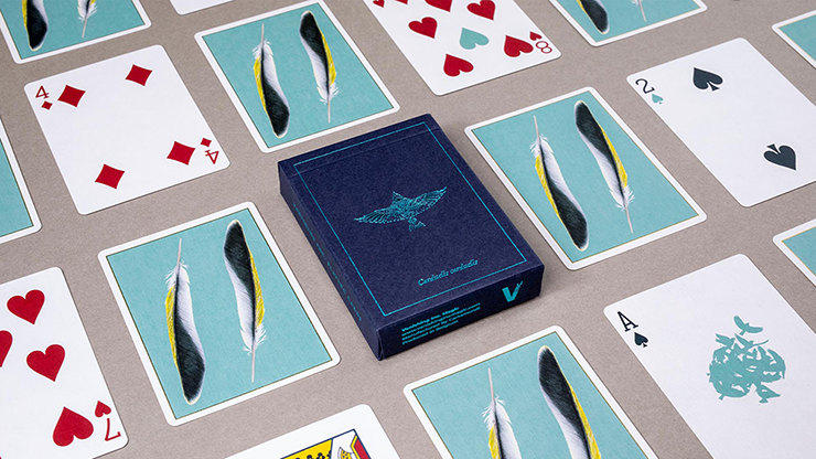 Feather Deck: Goldfinch Edition (Teal) (6692305436821)