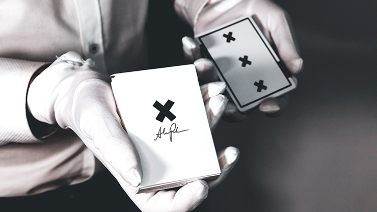 X Deck (White) Signature Edition Playing Cards (6431783944341)