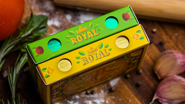 The Royal Pizza Palace (Gilded) Playing Cards Set (6750771937429)