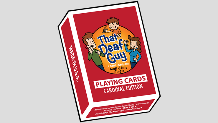 That Deaf Guy RED Cardinal Edition Playing Cards (6730716053653)