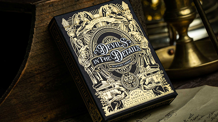 Devil's in the Details Glamourous Gold Playing Cards (6734787117205)