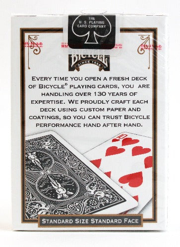Bicycle Rider Back Black - BAM Playing Cards