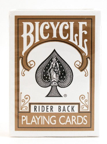 Bicycle Rider Back Gold - BAM Playing Cards
