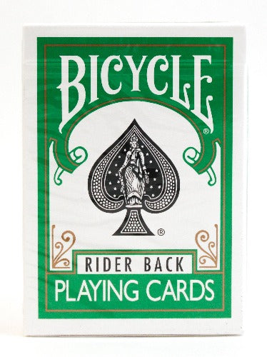 Bicycle Rider Back Green - BAM Playing Cards