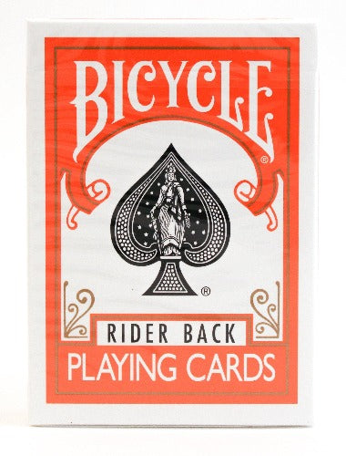 Bicycle Rider Back Orange - BAM Playing Cards