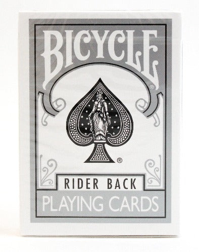 Bicycle Rider Back Silver- BAM Playing Cards