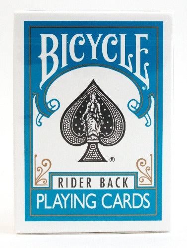 Bicycle Rider Back Turquoise - BAM Playing Cards
