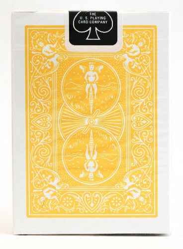 Bicycle Rider Back Yellow - BAM Playing Cards