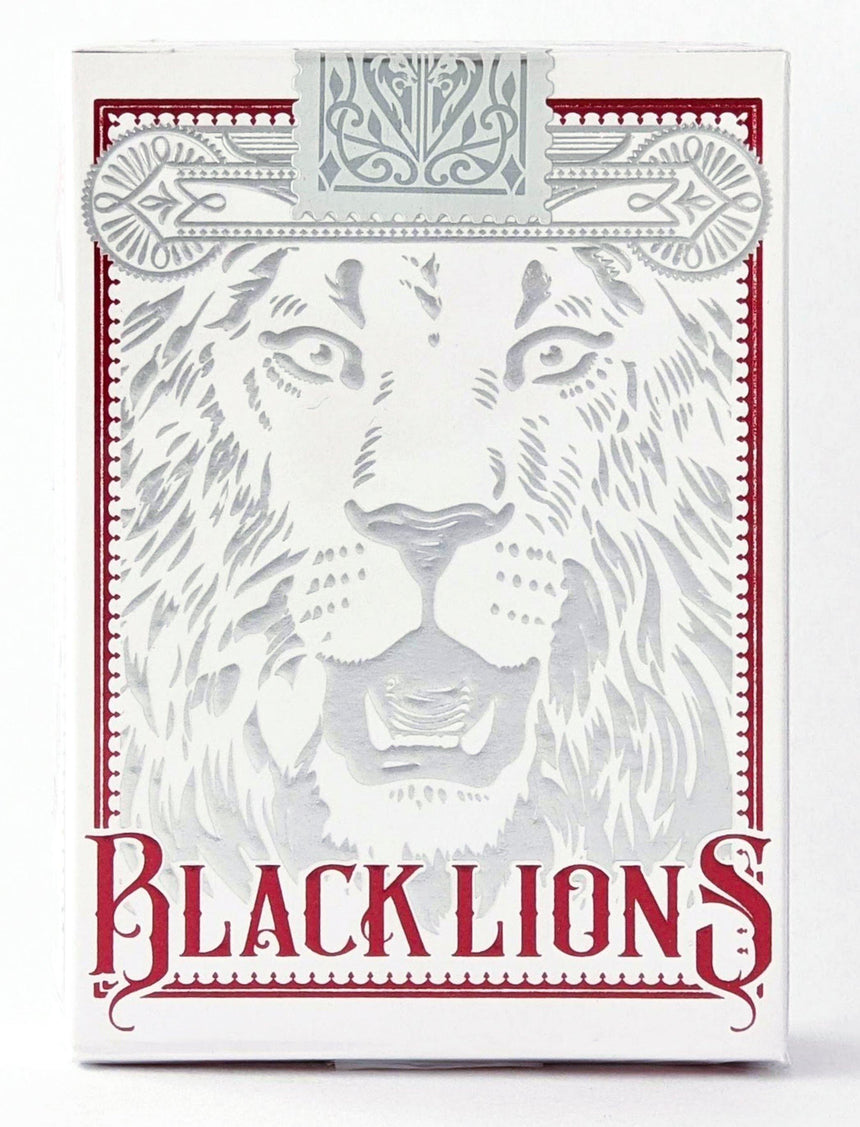 Black Lions - Red - BAM Playing Cards