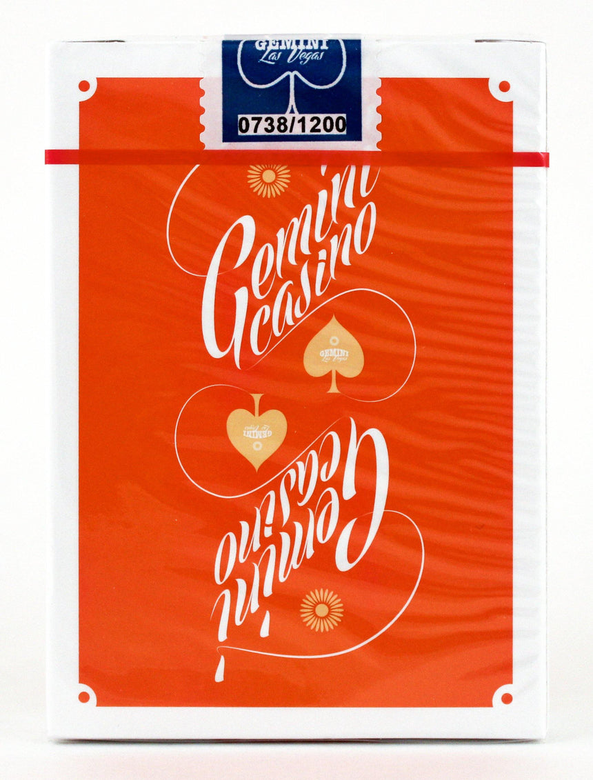Gemini Casino 1975 Orange - BAM Playing Cards