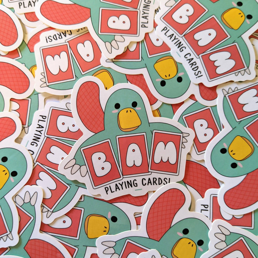 BAM Sticker - BAM Playing Cards