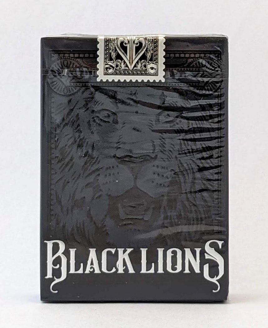 Black Lions - Black - BAM Playing Cards