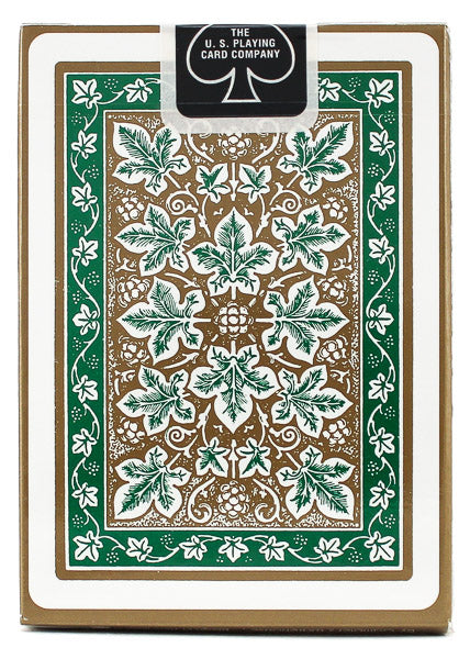 Bicycle Leaf Back Green - BAM Playing Cards (6555716878485)