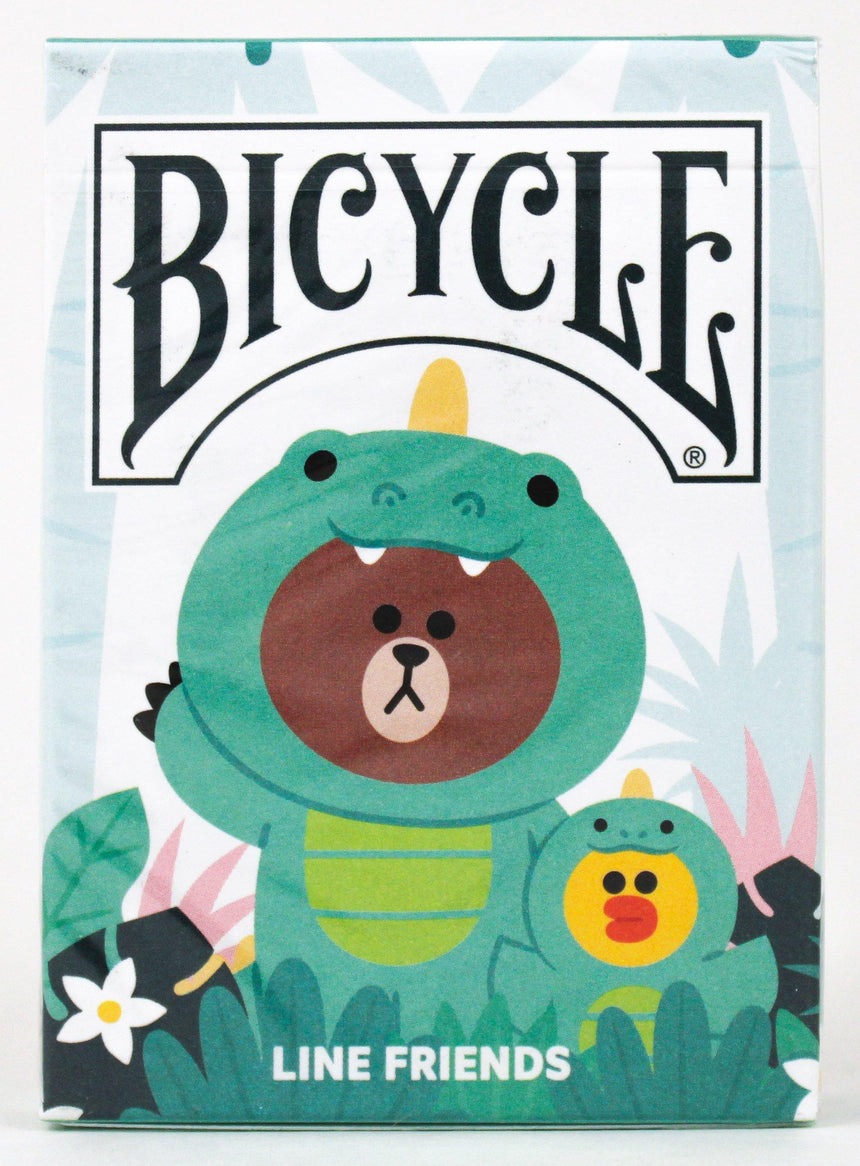 Bicycle x Line Friends Jungle Brown - BAM Playing Cards