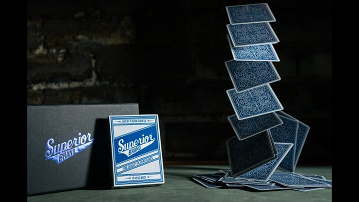 Superior (Blue) NEW Playing Cards (6386418122901)