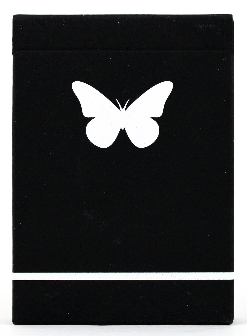 Butterfly Black & White Marked - BAM Playing Cards