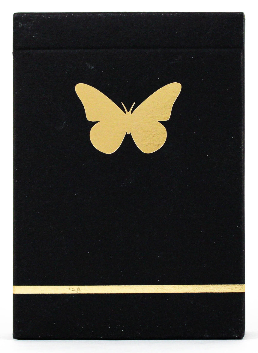 Butterfly Black & Gold Marked - BAM Playing Cards (6180844339349)