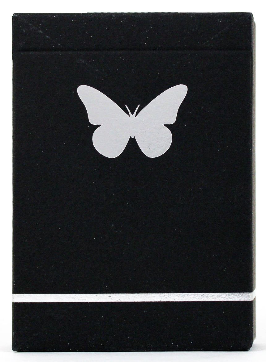 Butterfly Black & Silver Marked - BAM Playing Cards (6180814389397)