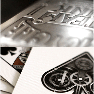 Bicycle Silver Steampunk Deck - BAM Playing Cards (6365189701781)