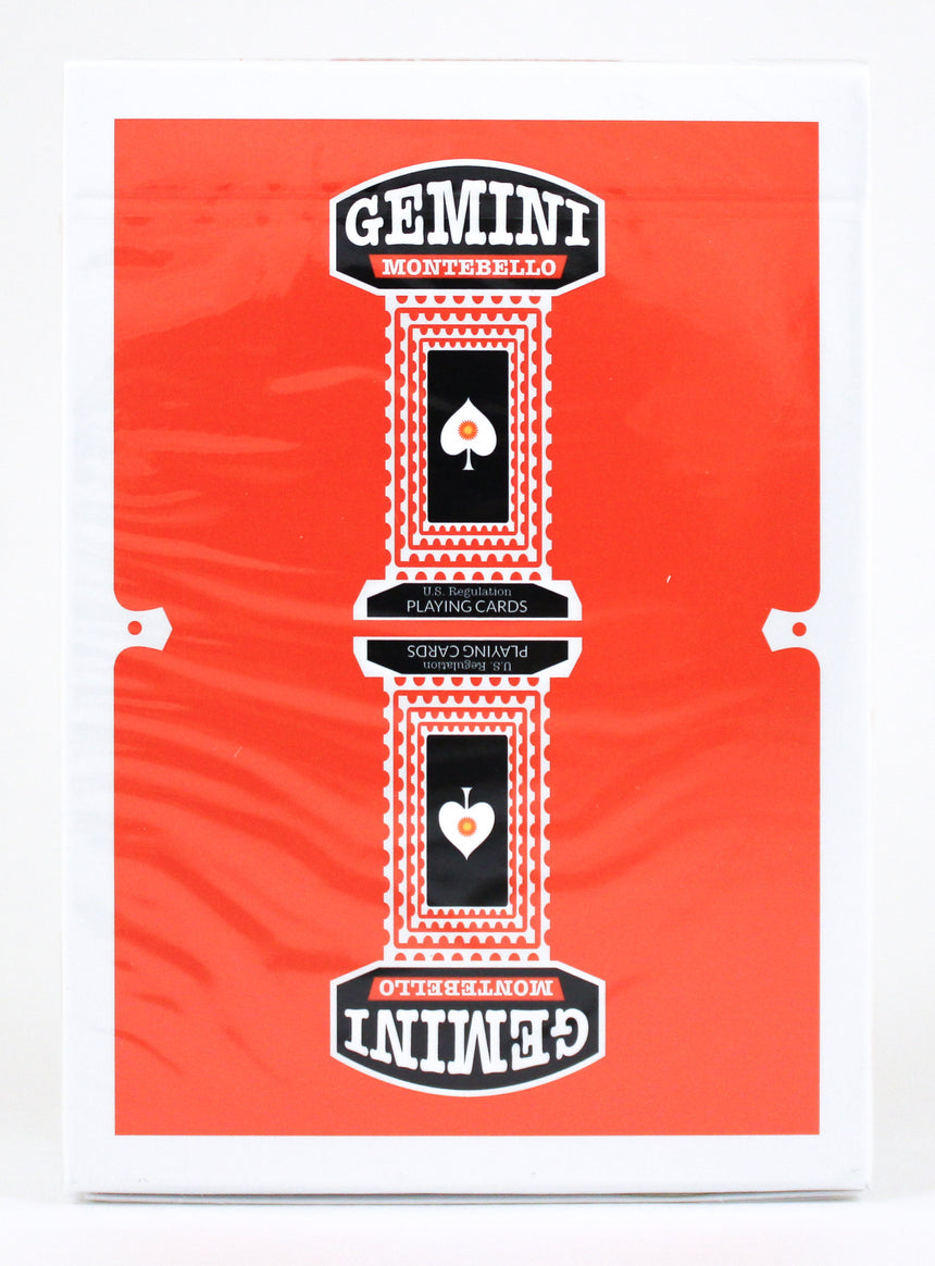Gemini Casino Orange - BAM Playing Cards