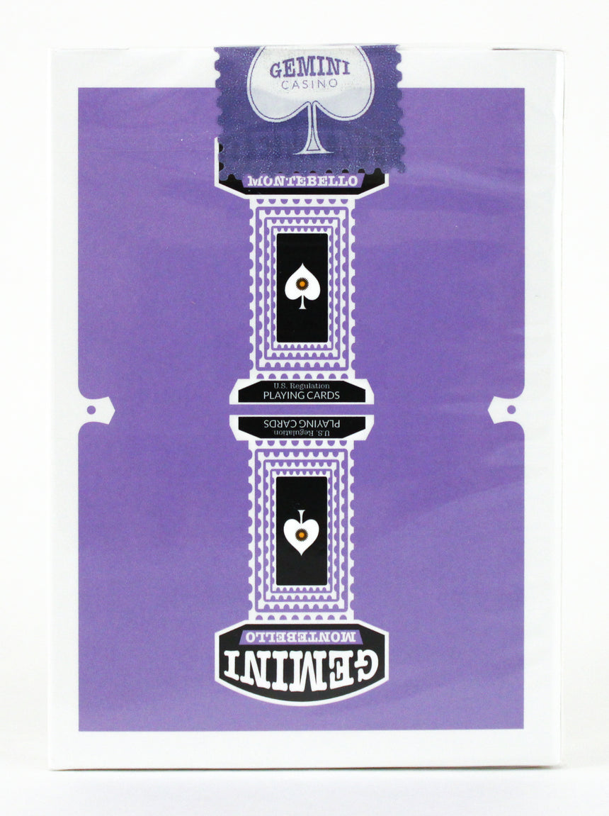 Gemini Casino Purple - BAM Playing Cards