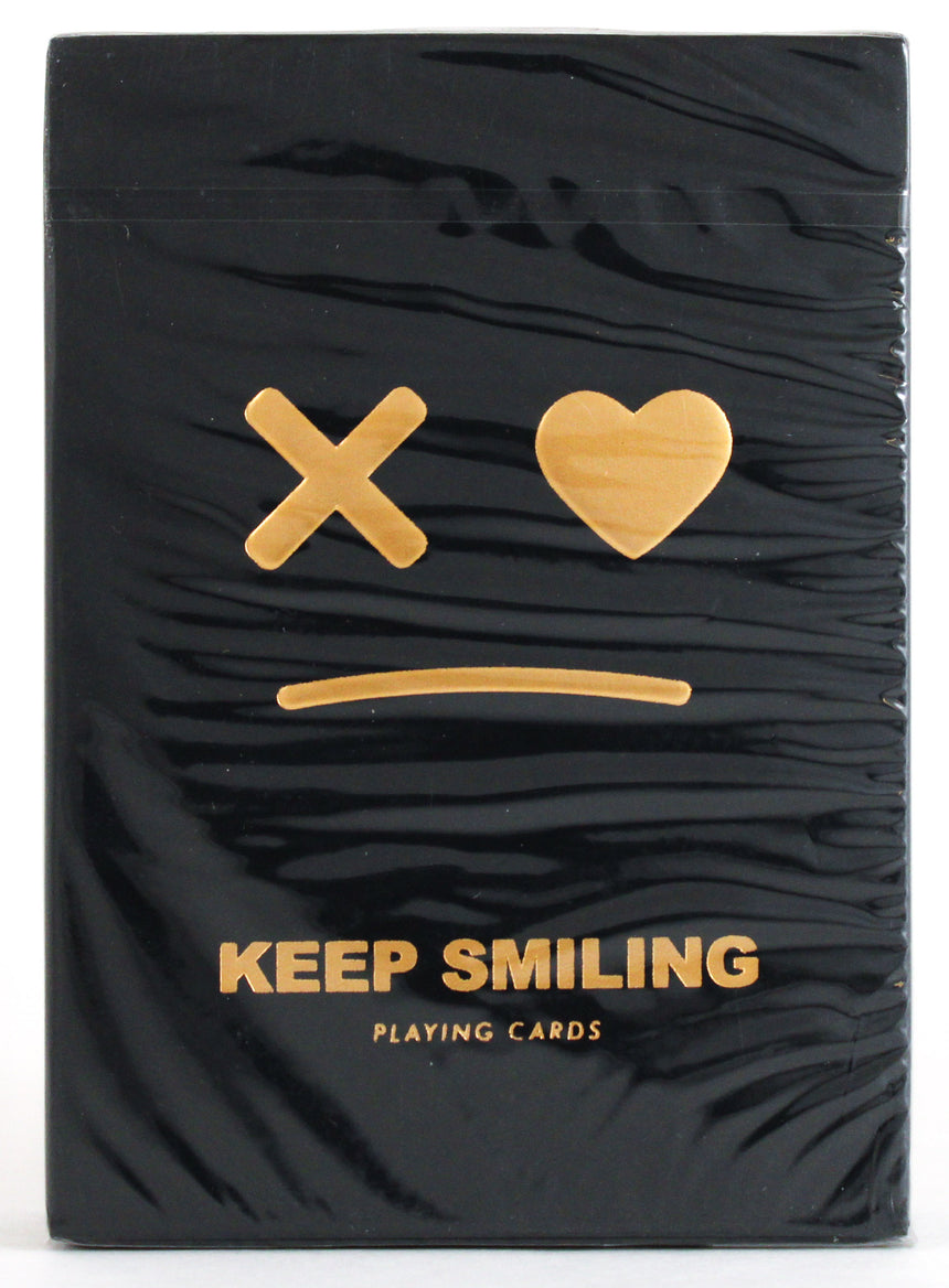 Keep Smiling Black V2 - BAM Playing Cards (5953511522453)