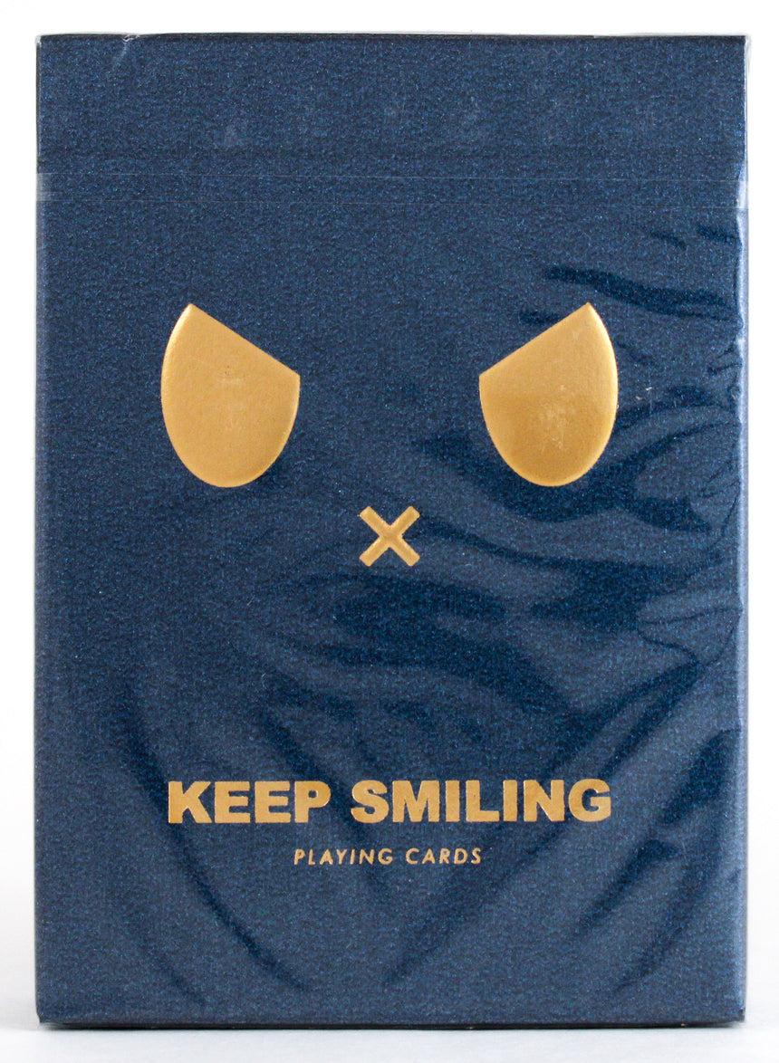 Keep Smiling Blue V2 - BAM Playing Cards (5953518436501)
