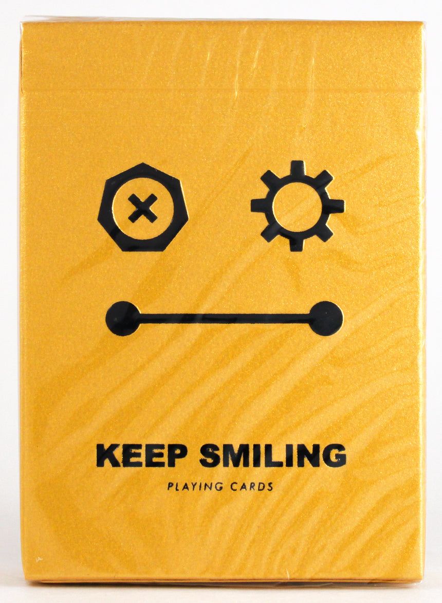 Keep Smiling Pearl Gold V2 - BAM Playing Cards