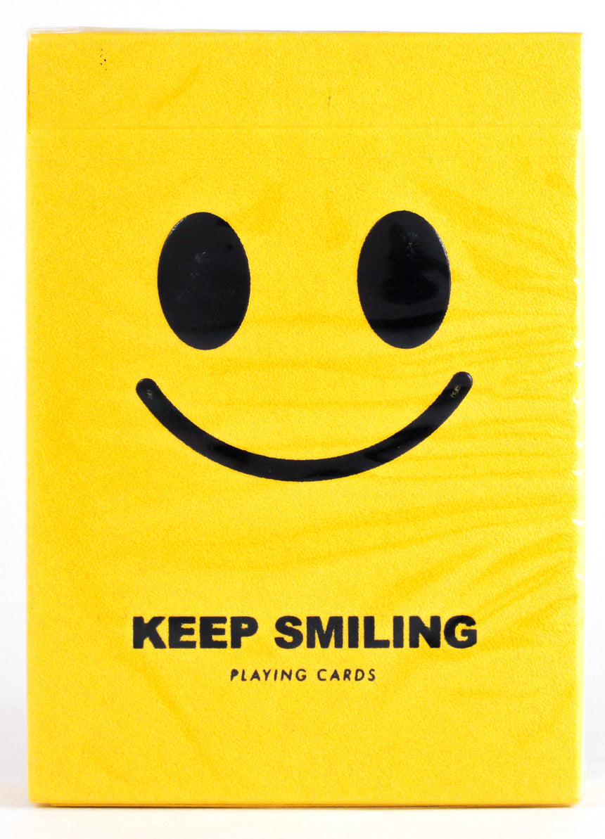 Keep Smiling Yellow V2 - BAM Playing Cards