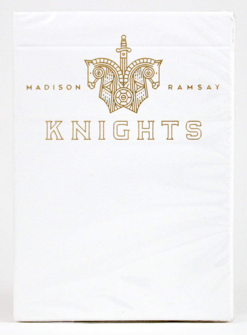 Knights V2 White - BAM Playing Cards (6229263450261)