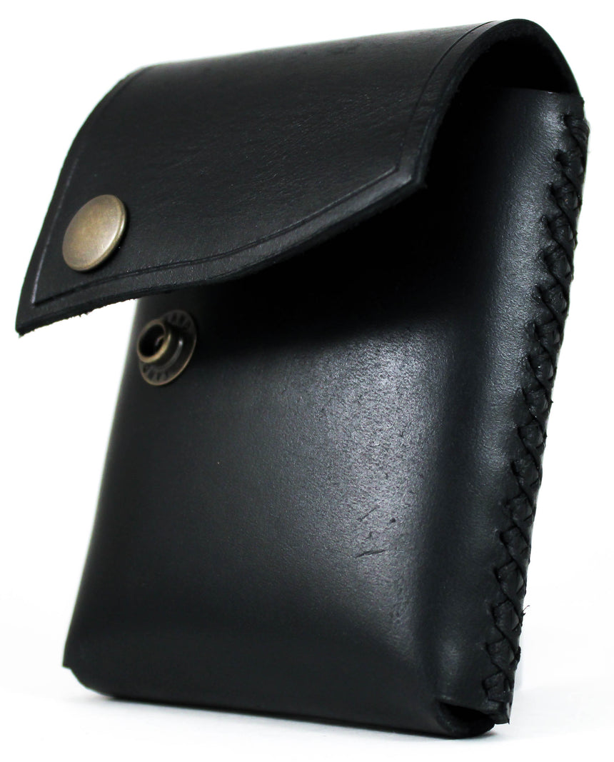 Foxheart Leather Deck Sleeve Black - BAM Playing Cards