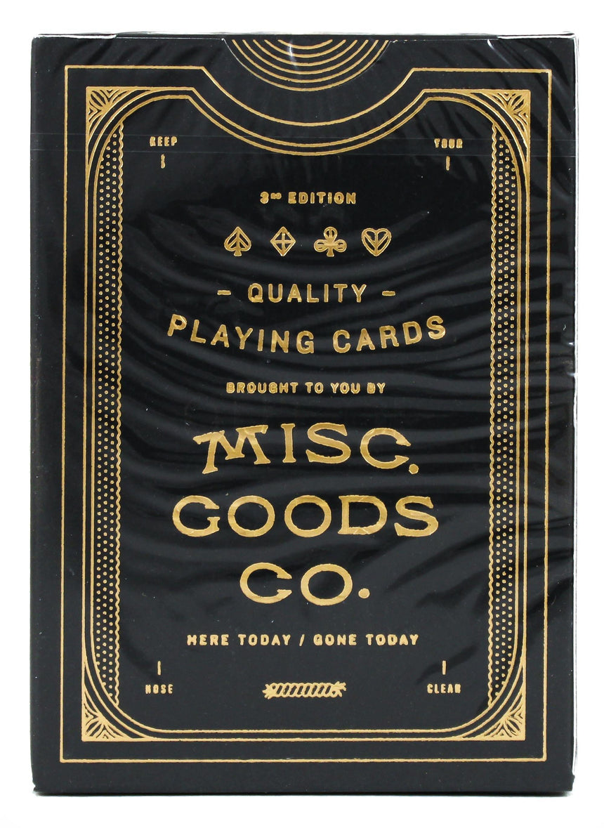 MGCO Black - BAM Playing Cards (6365193863317)