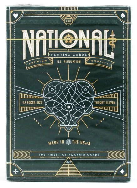Green National - BAM Playing Cards (6306568568981)