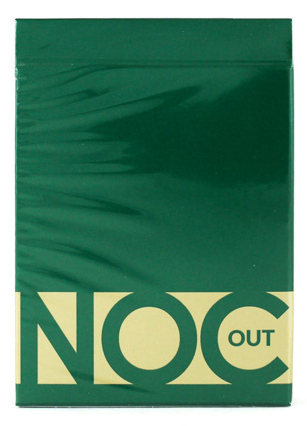 Noc Out Green and Gold - BAM Playing Cards (6531560898709)