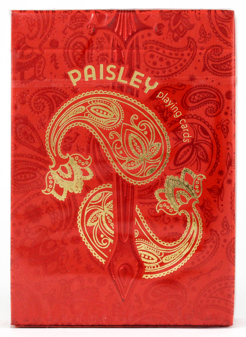 Paisley Royals Red - BAM Playing Cards (6239534284949)