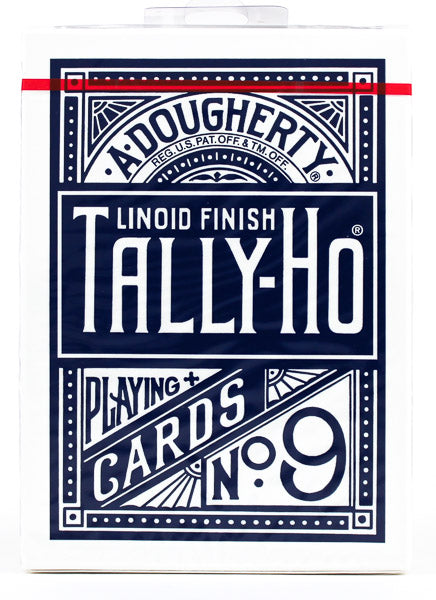 Tally Ho Fan Back Blue - BAM Playing Cards (6440959475861)