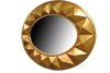 Large Oval 3 Dimensional Gold Framed Modern Mirror