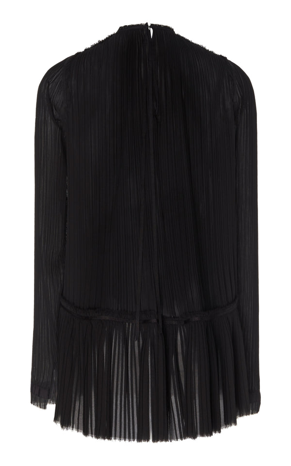 ASYMMETRICAL HEM PLEATED TOP