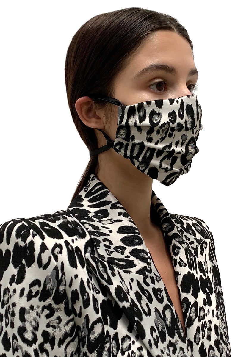 White Leopard Face Masks