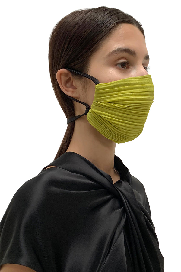 Chartreuse Pleated Face Masks