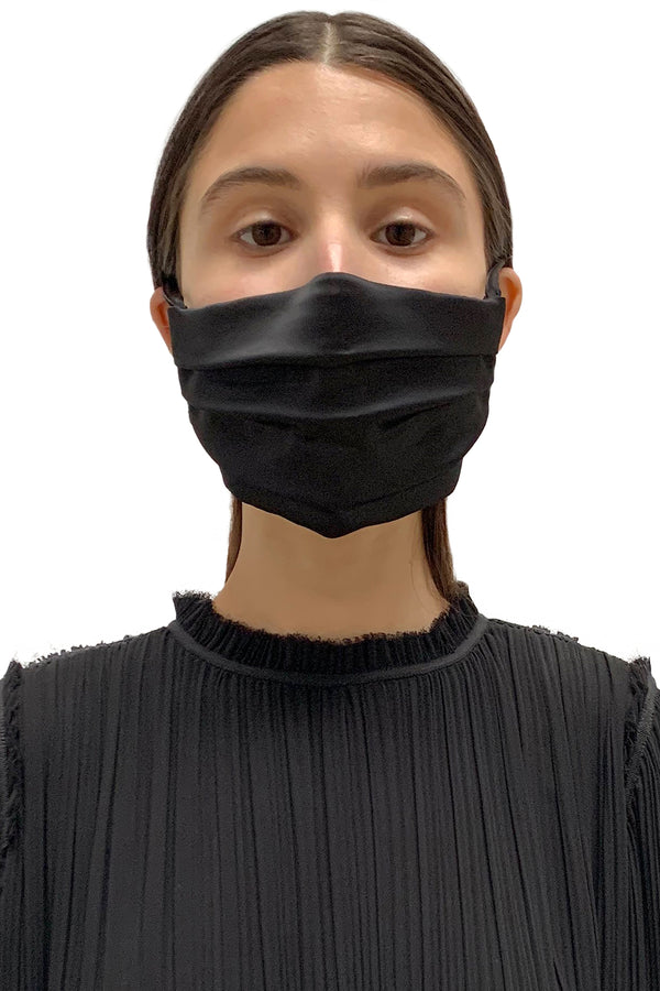 Black Satin Face Mask