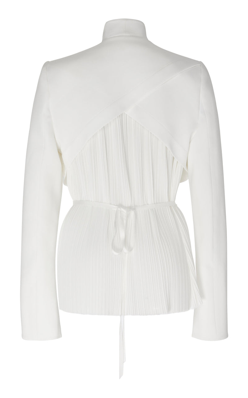 BACK PLEATED SINGLE BUTTON JACKET