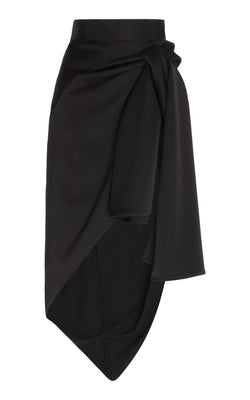 SATIN FRONT KNOT SKIRT