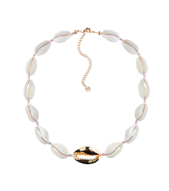 Metal Shell Accent Choker - Gold