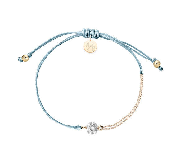 CZ Solitaire Bracelet - Bluebell