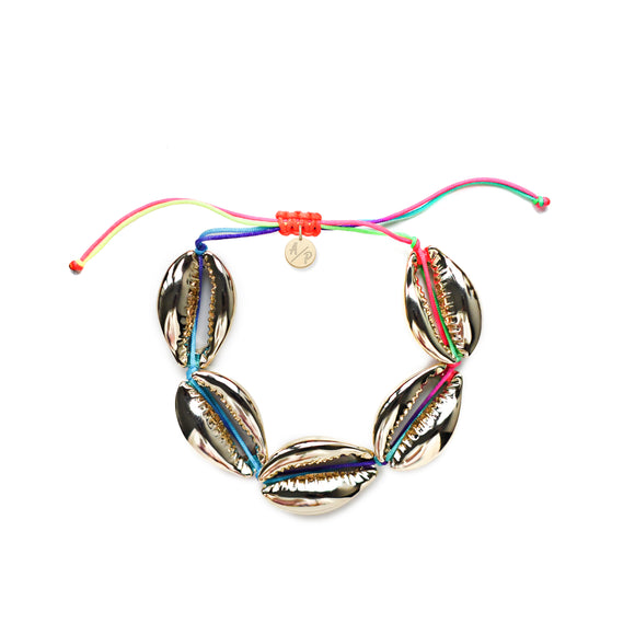 Sleek Shells Bracelet - 14k Gold/Rainbow